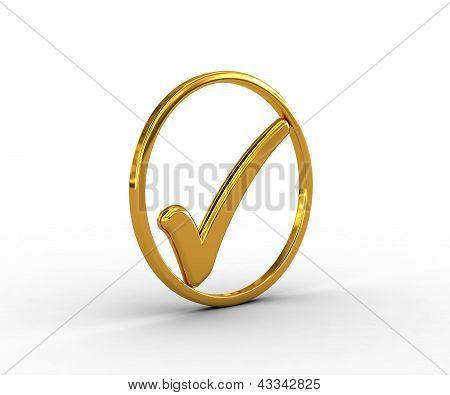 Anel de ouro com a marca de seleção