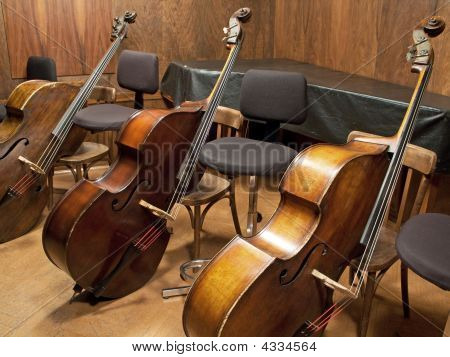 Three Contrabasses