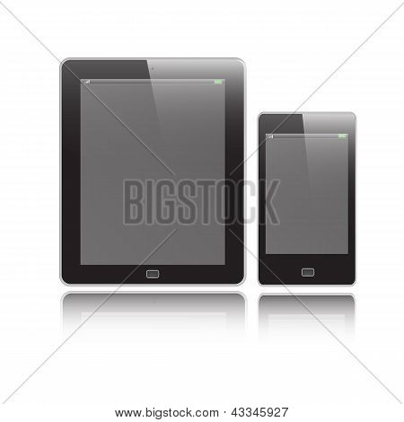 Vertical Tablet And Mobile