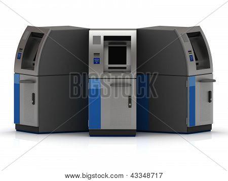 Three Cash Machine Atm
