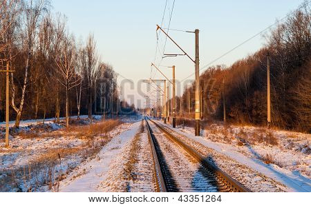 Single-track Electrified (25 Kv, 50 Hz) Railway Line In Ukraine