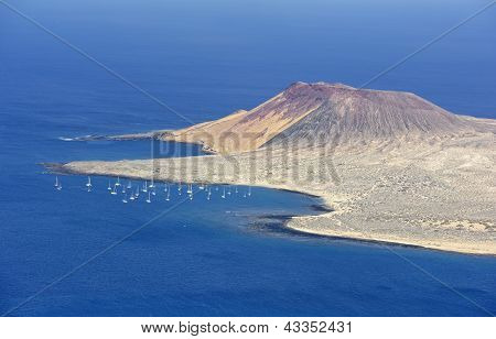 View Of Graciosa Island From Mirador Del Rio, Lanzarote Island