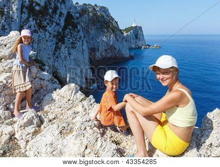 Family On Rocky Cape
