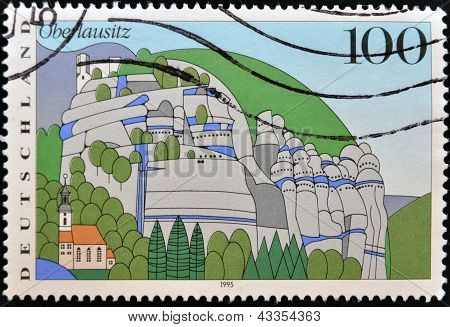 : A stamp printed in Germany shows Oberlausitz