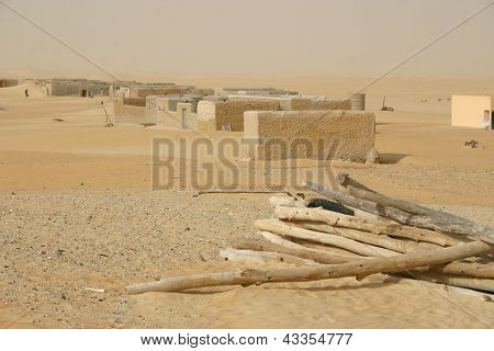 A mud village of the Tuareg nomads of Mali