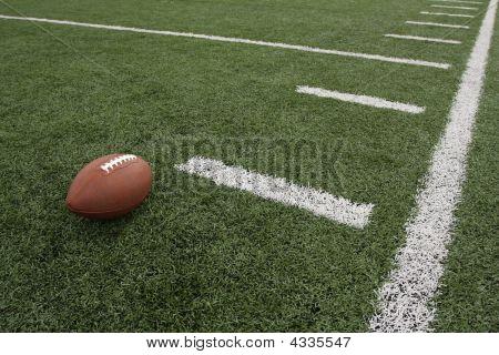 American Football Near Hash Mark