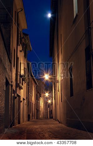 Dark Alley In The Old Town