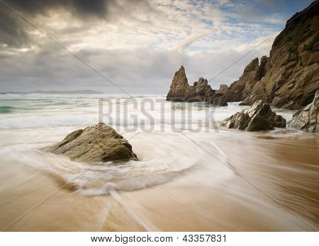 Campelo Beach In Galicia,