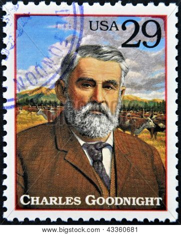Charles Goodnight cattle rancher in the American Old West