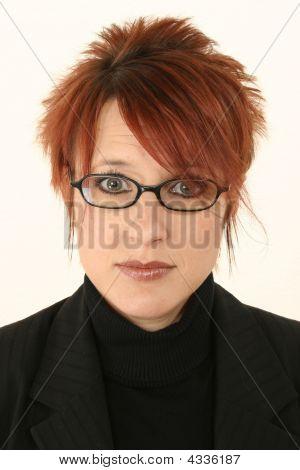 Beautiful Woman In Glasses