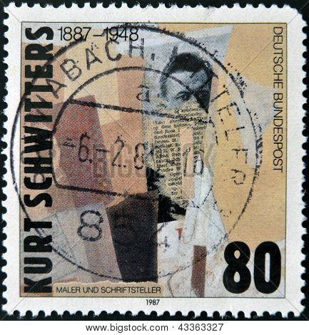 A stamp printed in Germany shows the painting