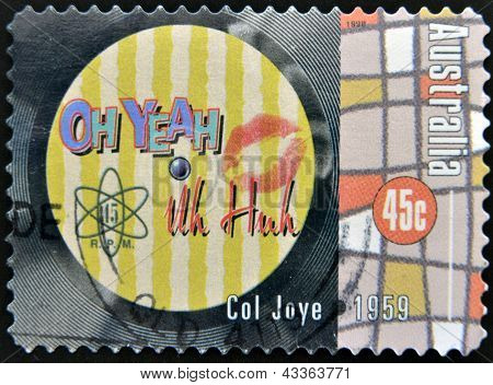 A stamp printed in Australia dedicated to Col Joye