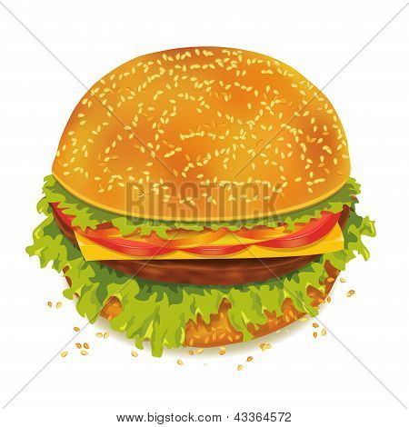 Hambúrguer saboroso isolado