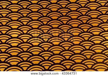 Orange scalloped pattern