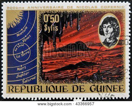 anniversary of Nicolas Copernicus shows Primeval Landscape