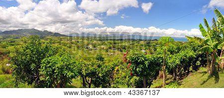 Panorama Of The Fijian West Coast.