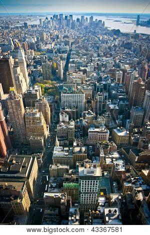 View Over Lower Manhattan New York