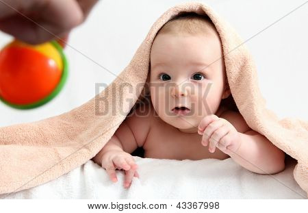 Baby Looking At Toy