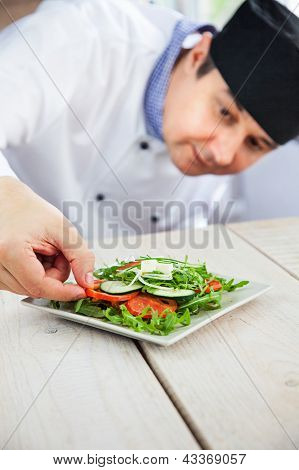 Male Chef In Restaurant