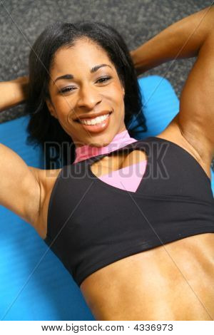 Woman Doing Sit Up