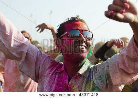 People celebrate Holi Festival of Colors
