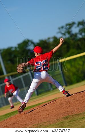 Young Little League Pitcher