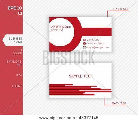 Design de identidade corporativa para empresas - modelo de Design moderno cartão abstrato vermelho - Vector Illustrat