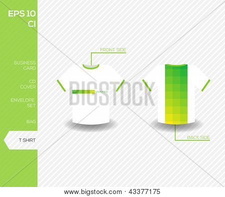 Corporate Identity Design For Business - Abstract Green Vector Uniform Tshirt Design Template - Vect