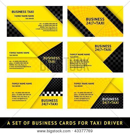 Business card taxi - ninth set