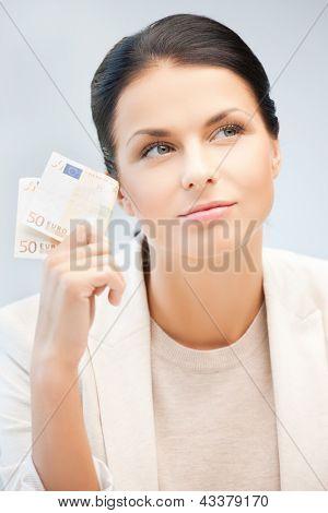 imagens de mulher de negócios sonhando com dinheiro