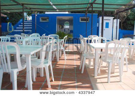Beach Cafe With Background Bathroom
