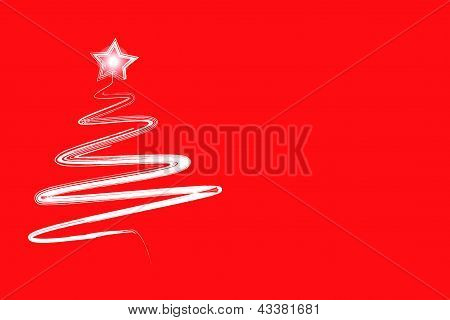 Hand Drawn Christmas Tree With Star