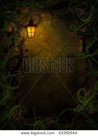 Halloween Background With Spooky Vines