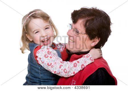 Großmutter mit Enkel
