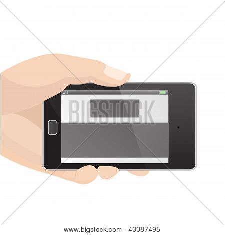 Responsive Layout Horizontal Display Mobile Phone