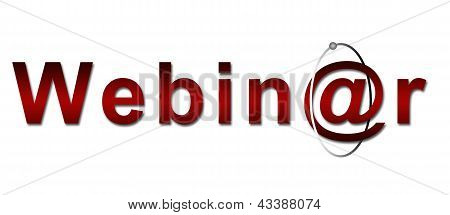 Webinar text in Red