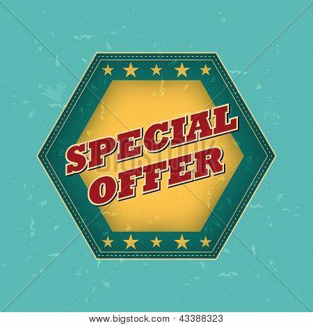 Special Offer - Retro Label