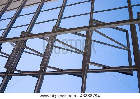 Bauhaus Dessau Windows Detail From Inside