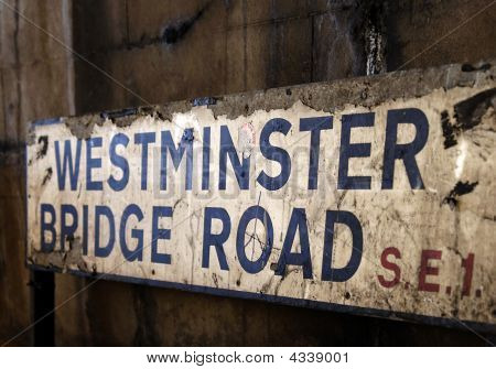 Westminster Bridge Road Sign