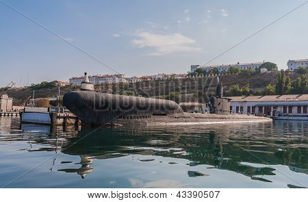 The Military Ship In Naval Bay Of Sevastopol