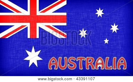 Flag Of Australia With Letters