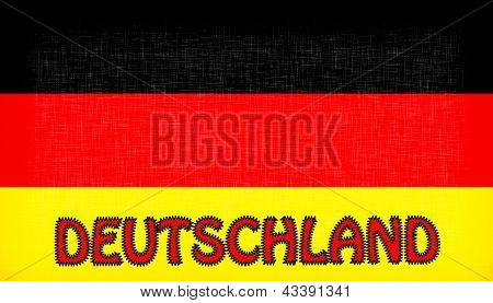 Flag Of Germany With Letters