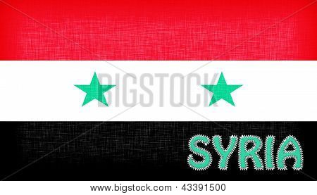Flag Of Syria With Letters