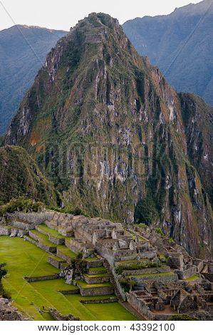 Machu Picchu With Huge Huayna Picchu
