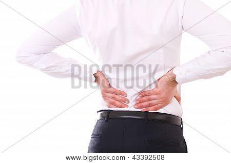 Businessman with backache.