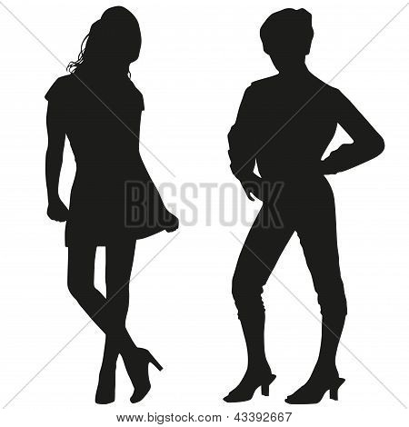 Silhouettes Of Teen