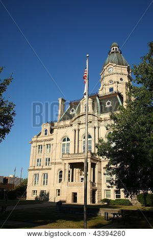 American Courthouse And Flag