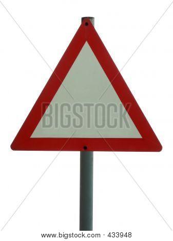 Blank Sign - Triangular