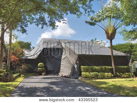 Tented house