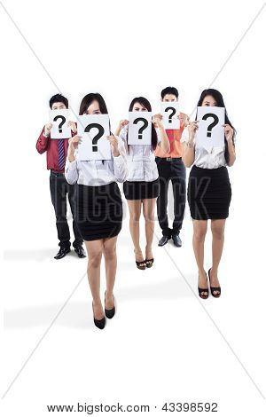 Businesspeople With Question Mark